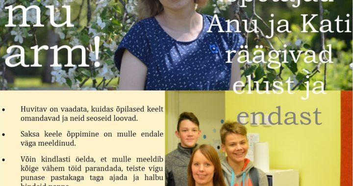 Eesti keel, mu arm! Õdedest õpetajad Anu ja Kati räägivad elust ja endast